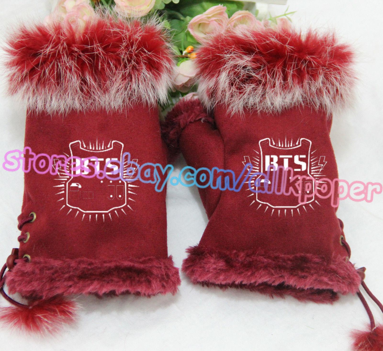 Kpop BTS Half Finger Glove Bigbang GD G-Dragon GOT7 Unisex Mitten Bangtan Boys for sale  USA