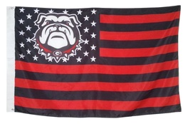 University of Georgia Bulldogs 3'x5' Stars Stripes Banner Flag - HAIL TO GEORGIA - $19.99