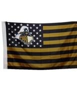 Purdue University Boilermakers 3'x5' Stars Stripes Banner Flag - HAIL PU... - $19.99