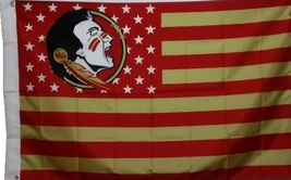 Florida State University Seminoles 3'x5' Stars Stripes Banner Flag - GO FSU!!  - $19.99