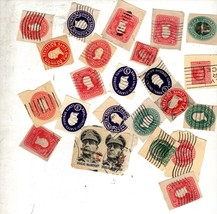 Stamps - Assorted vintage 25 U S Stamps - $1.25
