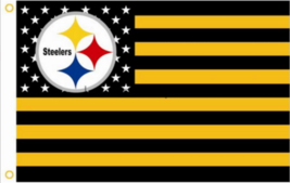 "Pittsburgh Steelers Football Stars Stripes Banner Flag 3'x5' - LET""S GO STEELERS - $16.99"