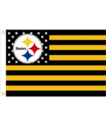 "Pittsburgh Steelers Football Stars Stripes Banner Flag 3'x5' - LET""S GO ... - $16.99"