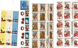 Assorted Vintage 10 Sheets of Christmas Seals from the 90's - $1.95