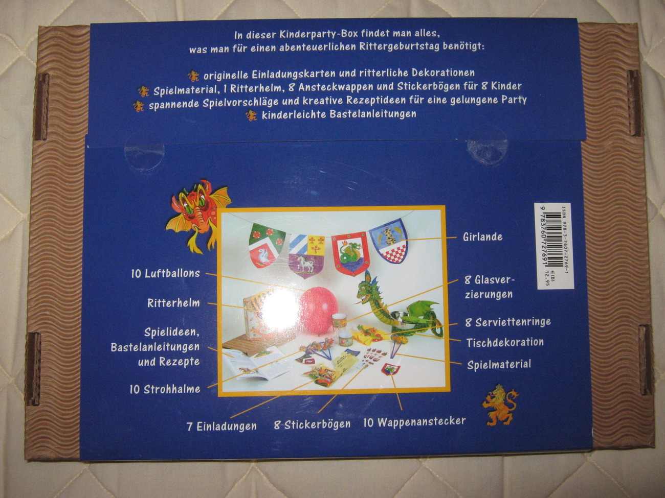 """Die Kinderparty-Box """"Ritter"""""""