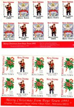 Christmas Seals from Boy's Town (1990's) - $1.25