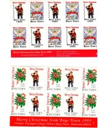 Christmas Seals from Boy's Town (1990's) - $1.50