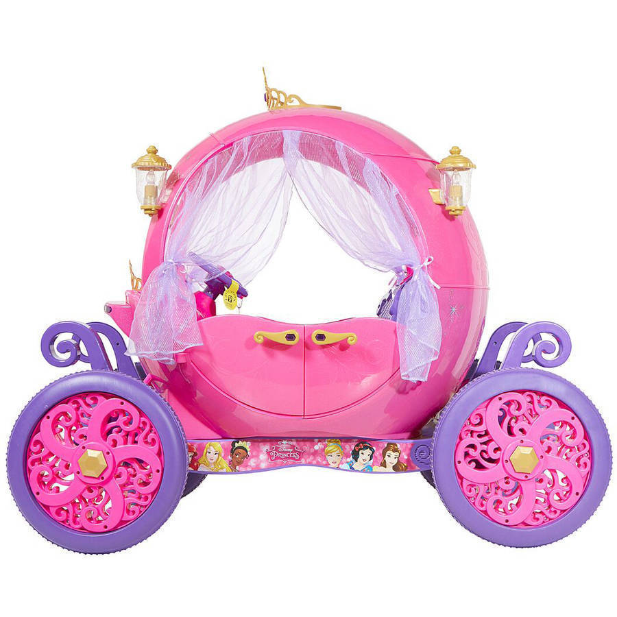 Electric cars for kids to ride on disney princess carriage for Car carriage