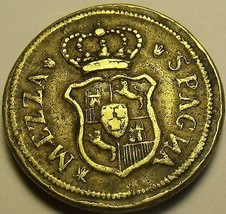 Italy Mezza Spagna Brass Coin~13.3 Grams 26mm~Free Ship - $29.39