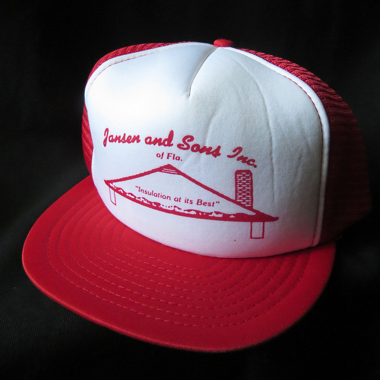 b8fccda4861 Vintage Mesh Snapback Hat Cap Jansen   Sons and 27 similar items