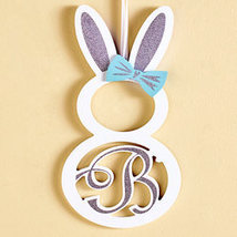"Monogram Bunny Wall Hanging ""B"" - $12.48"