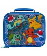 Lunch Box Insulated Pokemon Pikachu Squirtle Bu... - $30.57