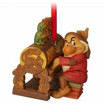 Disney Store 2018 Grumpy From Snow White & 7 Dwarfs Sketchbook Ornament New. - $22.00