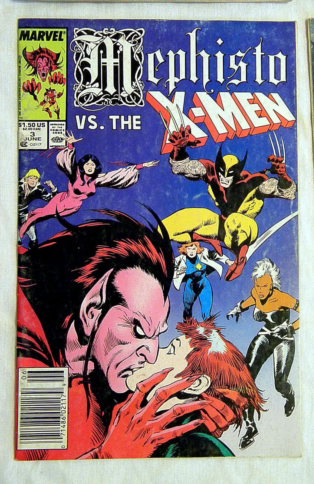 4170687bcd Mephisto 1-4 Complete Marvel Comics Set X-Men Avengers Fantastic Four  XFactor