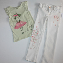 Gap Garden Party Tulle Graphic Shirt Top Embroidered Mini Skinny Jeans 4 5 NWT  - $38.69