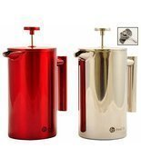 Best Stainless Steel French Press Coffee Espresso Maker With Markings Wont - €29,33 EUR