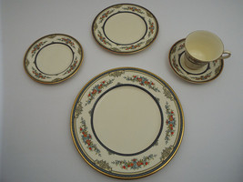 Minton Stanwood Gold Fine Bone China 5 Piece Place Setting Service for F... - $639.99