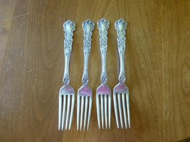 "4 Victorian Buttercup Gorham FLORAL Sterling Silver Fork 7""   6oz - $199.99"