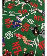 """Fabric Piece Football Players Pattern NFL Craft Hobby Sewing 98"""" X 58"""" - $14.34"""