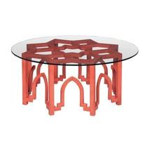 Anthropologie Replica Moroccan Moorish Bohemian Carved Mahogany Coffee Table - $899.00