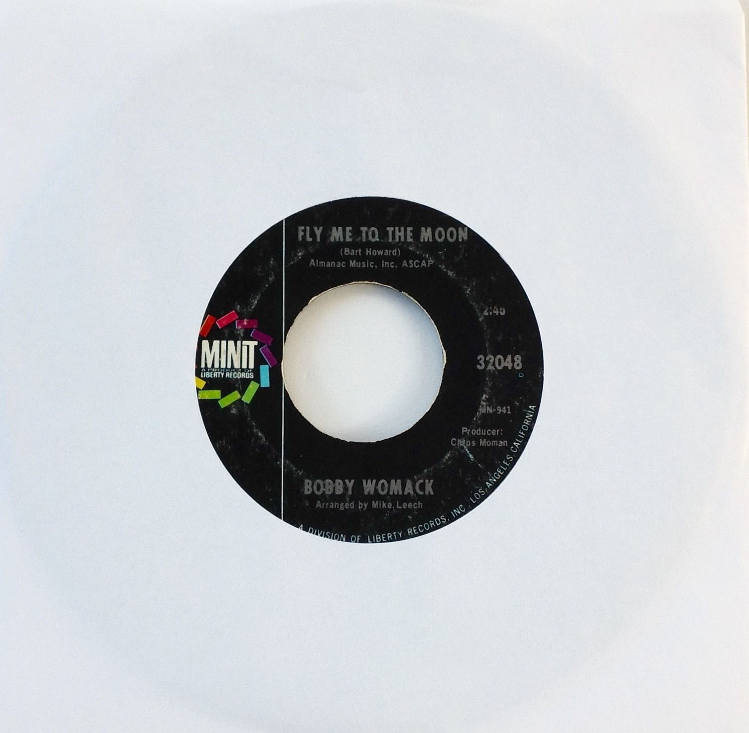Bobby Womack Fly Me To The Moon, Take Me 1968 Minit 32048 '1A/1A'