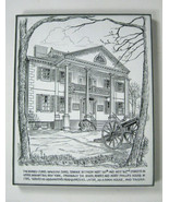 Drawing Jumel Mansion Eugene Kneloff Signed Pen Framed Small 10 In New Y... - $74.24