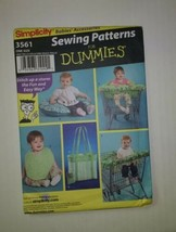 Simplicity 3561 Babies Accessories Shopping Cart Seat Cover Pillow Cover... - $11.64
