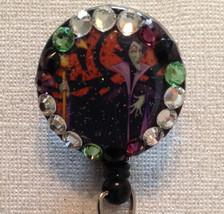 Malificent Disney Badge Reel Id Holder Lanyard Disney Swarovski Crystal ... - $10.99
