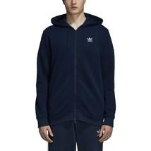Adidas Men's Originals Trefoil Full Zip Fleece Hoodie Collegiate Navy DS... - $59.95