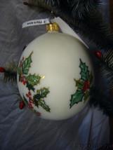 Vaillancourt Jingle Balls Santa with Bear Glass Christmas Ornament Or16502 image 2