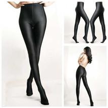 Strumpfhose High Waist Glanzstrumpfhose Glanz Hochglanz Shiny Pantyhose Tights - $9.32