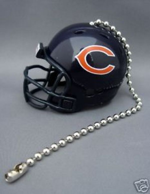 2 CHICAGO BEARS CEILING FAN LIGHT PULL & CHAIN NFL FOOTBALL HELMETS