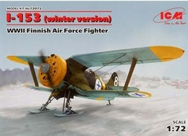 ICM  I-153-WWII Finnish Air Force Fighter Winter 1/72 scale - $21.99