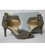 Jessica Simpson 8.5 M Marrionn Taupe Leather Open Toe Heels New Womens S... - $53.51