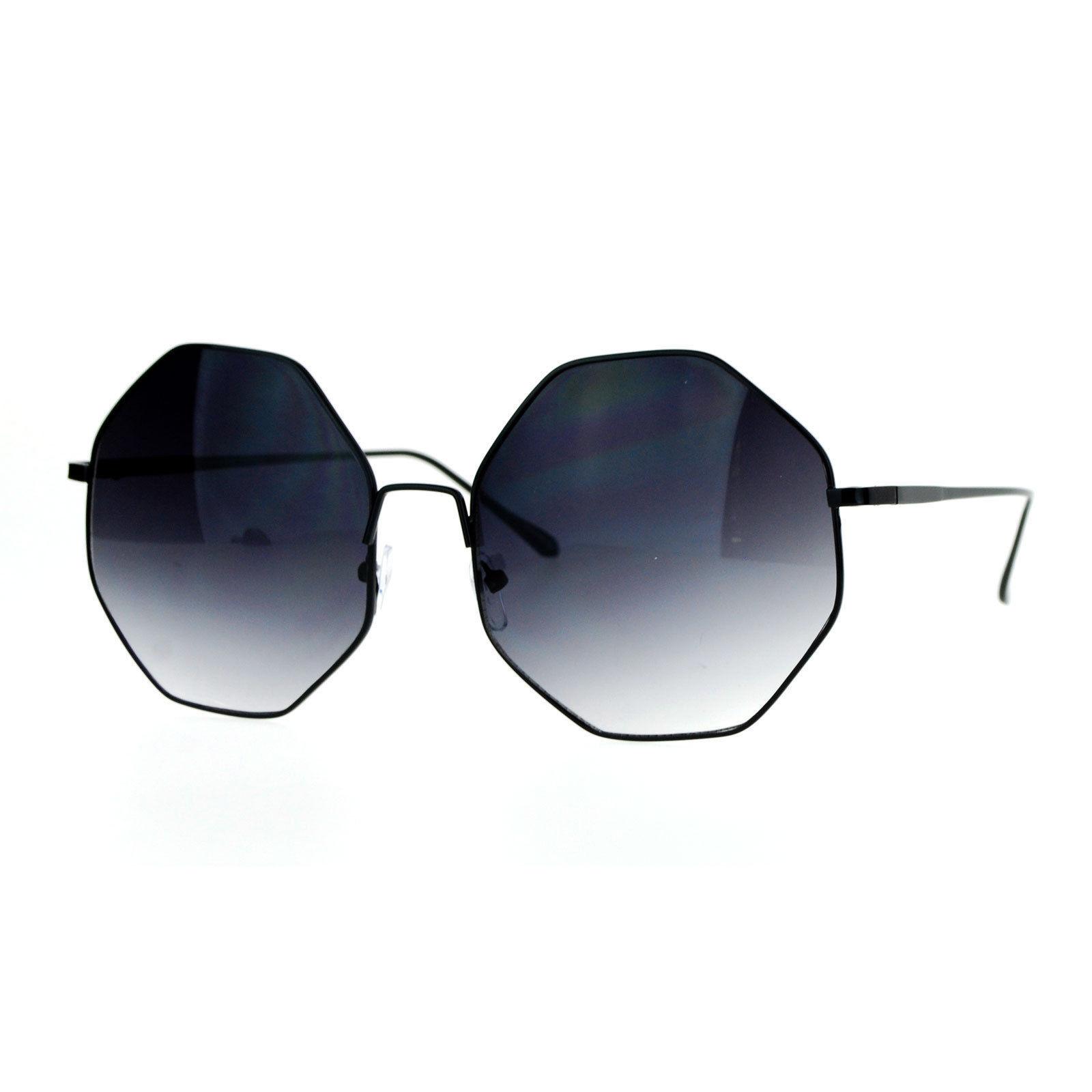 45409d117a09 Octagon Shape Metal Frame Sunglasses Womens New Fashion Eyewear UV400