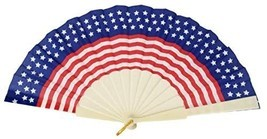 Patriotic Foldable Fan for Memorial Day, Fourth of July, Election + Camp... - £5.67 GBP