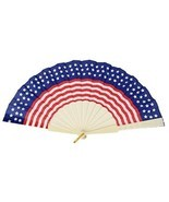 Patriotic Foldable Fan for Memorial Day, Fourth of July, Election + Camp... - £5.60 GBP