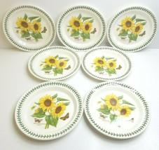 "7 Portmeirion Botanic Garden 10 1/2"" Sunflower Floral Dinner Plate Ellis England - $155.30"