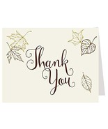 Fall Thank You Cards, Bridal, Wedding Shower, Autumn, Chocolate, Leaves,... - $42.98
