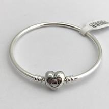 """Pandora Lisse Coeur Logo Clasp Argent Bracelet, 6.7 """" 596268-17 Nouveau - $55.18"""