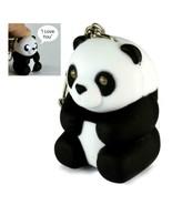 LED PANDA KEYCHAIN w Light and Sound Animal Toy Says I Love You Key Ring... - $6.95