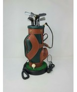 Vtg Golf bag landline telephone corded house phone golfer desk - $49.50