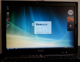 Dell Latitude D630 Laptop Windows Core 2 2GB 80GB HD Serial DVD MICROSOF... - $115.78