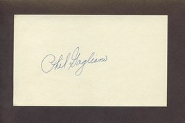 PHIL GAGLIANO Signed 3x5 Index Card 1967 Cardinals Red Sox Reds Autograph - $5.83
