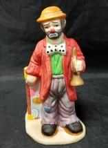 Emmett Kelly Jr. Collection By Flambro Clown w Horn & Trunk, Red Coat, B... - $12.59