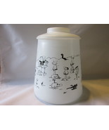 Vintage Lidded Glass Ice Bucket / Canister with Johnny Hart BC Comics Gr... - $246,25 MXN