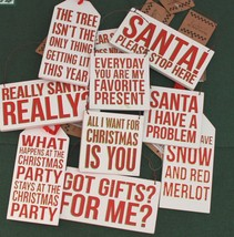 Wood Christmas Ornament Plaques Primative by Kathy Statement to Santa - $3.99