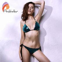Sexy Women Bikini Thong Bottom Brazilian V Cheeky Ruched Semi Swimwear Beachwear - $21.00