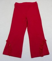 The Childrens Place Tcp Girls 4T Bright Pink Pants Leggings Ruffles New - $10.88