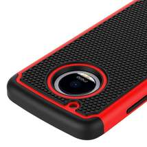 Red Hybrid Case for Motorola Moto E4 Plus - Hard Heavy Duty Cover USA & Fast! image 4